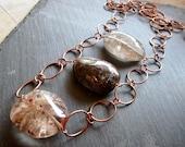 Exceptional Rutilated Quartz Copper ABACUS - Wilma Flintstone Necklace - Statement - Etsy Jewelry - catROCKS - Grace Frankie Lily Tomlin