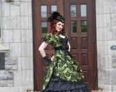 Steampunk Wedding Dress | Olive Opulence | Gothic Wedding Dress, Victorian Ball Gown, Ballgown Wedding Dress,  Civil War Dress