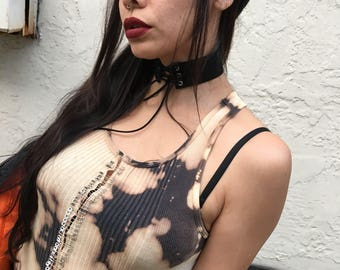 Ooak apocalyptic fairy safety pin ribbed tank top
