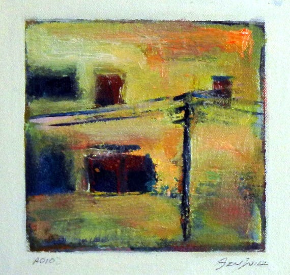 Daily Painting  A010 Small Abstract Study Painting Artwork by BenWill