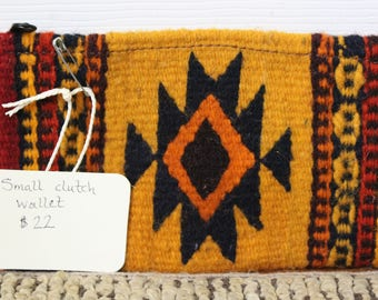 Fair Trade Ethical Coin Purse Mexico Mexican Artisan Made Wool