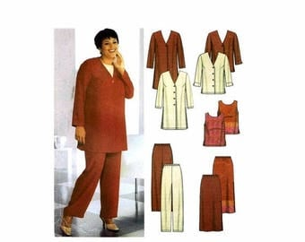 SALE Womens Jacket Top Pants Skirt Simplicity 7186 Sewing Pattern Size 26 - 28 - 30 - 32 Bust 48 - 50 - 52 - 54 Uncut