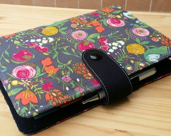 Floral   Field note  book cover