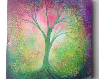 Mystical Tree of Life Art - Fine Art Print by Jenlo