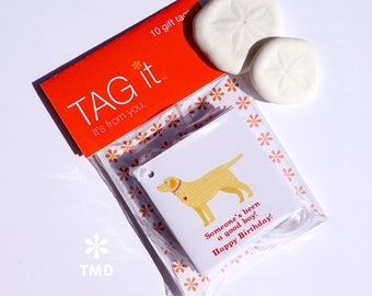 Yellow Labrador Gift Tags