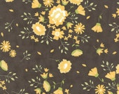 Pepper and Flax - Summer Blooms in Pepper Black: sku 29040-14 cotton quilting fabric by Corey Yoder for Moda Fabrics