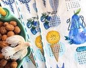 2018 Linen Cotton Tea Towel Calendar from my illustrations