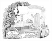 Cactus Island Fine Art Print