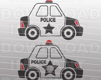 Police SVG File,Police Car SVG,Monogram SVG Cut File-Vector Clip Art for Commercial & Personal Use Cricut,Silhouette,Cameo,Pazzles,Vinyl