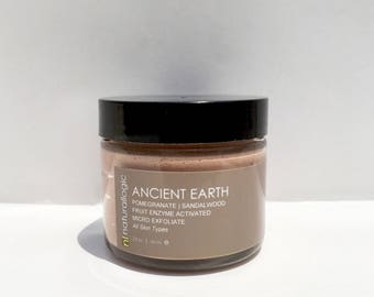 ANCIENT EARTH Micro Exfoliate. Face Scrub. Smooth, Radiant skin. Amazing for all skin types. Acne Prone, Sensitive, Aging, Mature. . VEGAN