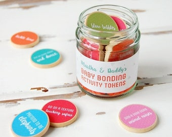 SALE Daddy And Baby Personalised Baby Bonding Activity Tokens Jar - First Father's Day Gift - Fathers Day Gift - Daddy Keepsake - New Dad Gi