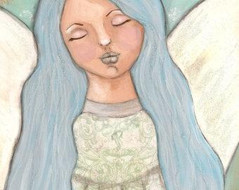 Winter Angel Snow Art Print