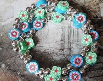 Floral Wrap Bracelet