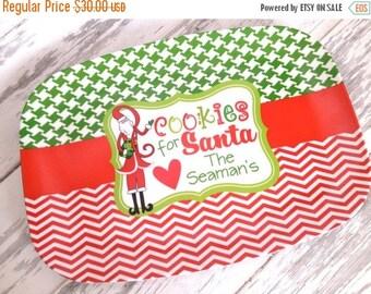 ON SALE personalized COOKIES For Santa melamine serving platter