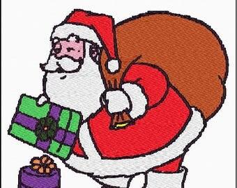 Santa and Sack Embroidery File