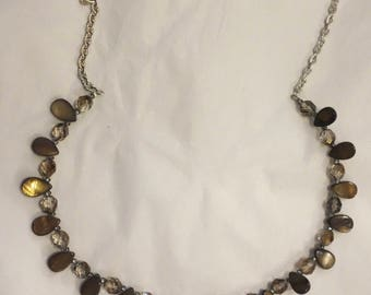Shell and glass bead necklace
