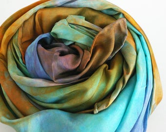 Pretend Space Play, Waldorf PlaySilk of the Month: Heart of the Galaxy (35 inch Hand Dyed Natural Playsilk )