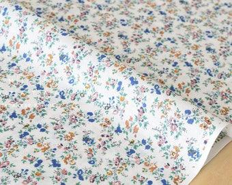 Japanese Fabric tiny floral - cotton lawn - blush, blue, mustard, green - 50cm