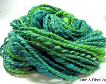 "St. Patty's ""Chunkee Munkee"" Handspun Yarn 74 yards (67 meters) 3.9 ounces (110 grams)"
