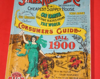 VINTAGE reproduction of 1900 Sears and Roebucks catalob