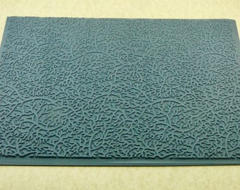 BRANCHING OUT MEGA  Embossed Ceramic, Polymer, Metal Clay and Inks Texture Tile Rubber Stamp