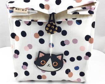 Polka Dot Cat Gift Bag By For Mew, Cat Lady Cat Person Gift