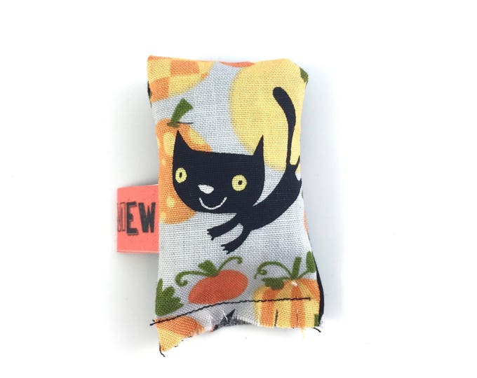 Featured listing image: Halloween Black Cat And Pumpkins Green Bean Organic Eco Friendly Catnip Cat Toy For Mew