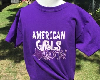 Doll clothes that fit the American girl matching t shirts girls size sm