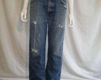 Closing Shop 40%off SALE Rustler Jeans distressed thrashed W 34 Waist   80s 90s