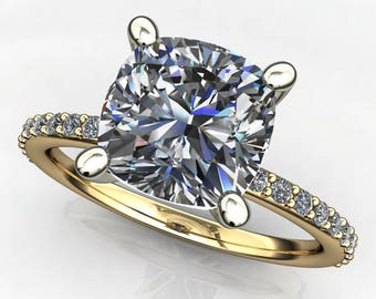 Private listing for CJCole - shay ring - 2 carat cushion cut NEO moissanite engagement ring, payment 1 of 3