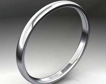 claire ring - narrow platinum wedding band, 14k gold wedding band