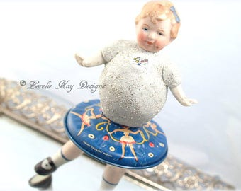 The Recital Art Doll Little Girl Tap Dance Dancer Assemblage Art Doll One-of-a-kind Mixed Media Sculpture Dance Teacher Gift