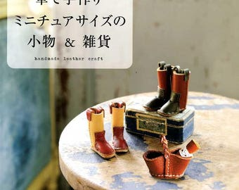 Handmade Miniature Leather Craft - Japanese Craft Book