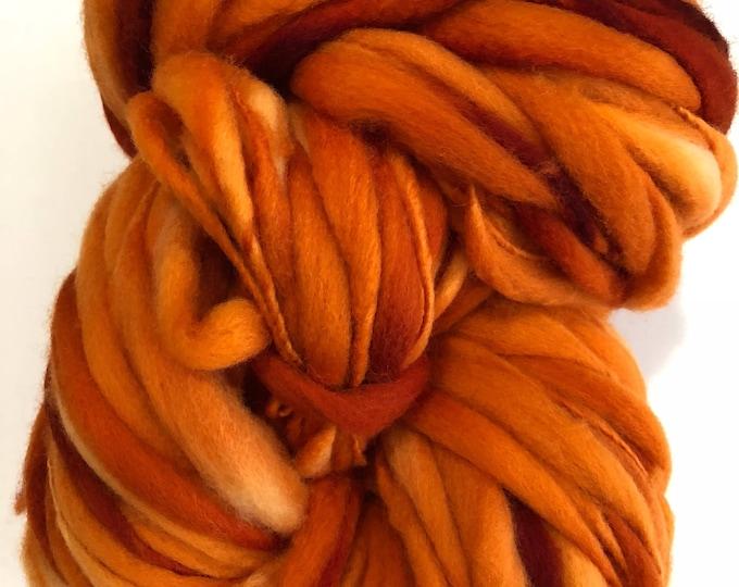 Handspun Thick n Thin art yarn. Merino wool. Hand dyed. Super soft. 7.5oz 184 yards