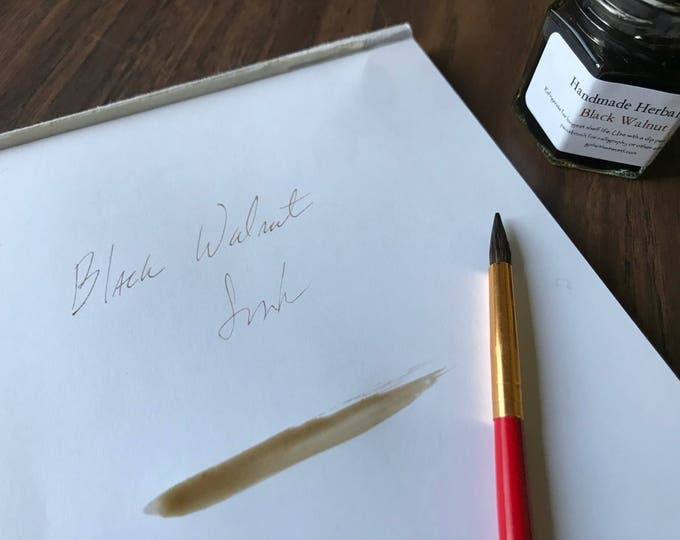 Black Walnut Ink - all natural botanical ink for writing, drawing, painting, calligraphy