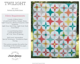 Modern Quilt Pattern - Twilight - PDF