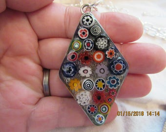 Millefiori beaded necklace