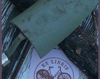 Super Summer Sale Antique Bicycle Personalized Ex Libris Rubber Stamp G07
