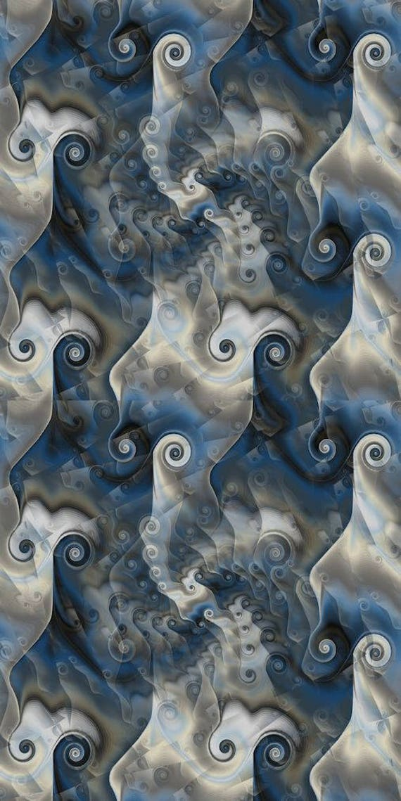 Blue Gray Textile Artist Soft Minky Fabric By The Yard Fiber Art Quilting Circles