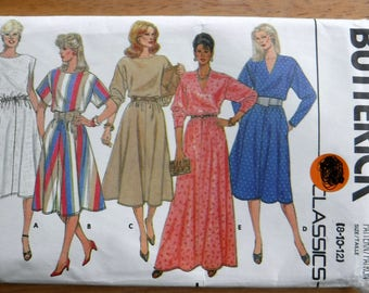Butterick classic sewing pattern/Misses dress/day dress/evening dress sewing pattern/uncut size 8 10 12 medium vintage dress pattern
