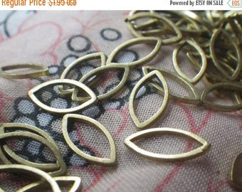 SALE 20% Off Brass Navette or Eye-Shaped Closed Jump Ring 12x6mm 50 Pcs