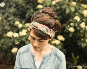 Woven Headwrap in Macaroon || Garlands of Grace STRETCH headband headcovering h
