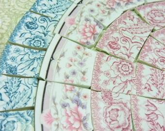 China Mosaic Tiles - ViNTaGE RiM TiLeS - HaND CuT Plate Tiles