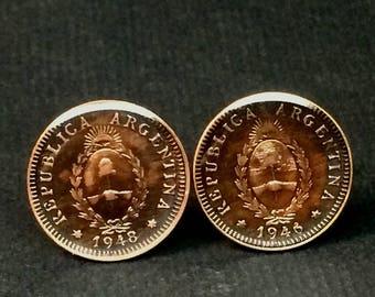 Argentina coin cufflinks 19mm.