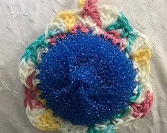 Crochet Flower Dish Scrubbies