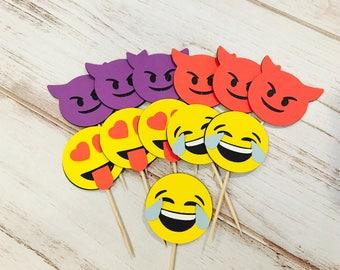 Emoji Toppers, Set of 12