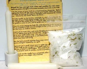 Energy Ritual Bath Salts: For PURIFICATION- Ritual Bath, Ritual Wash, Ritual Bath Salts, Bath Salts for, Ritual bath for,