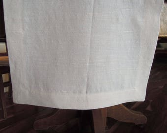 Table Runner, Ivory, Hemp Silk, Organic, Modern Country, Farmhouse, Table Linens