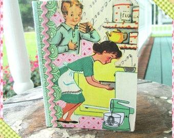 Baking Journal, I'm a Growing boy Junk Journal,  Smash Book, Baking Ephemera, Papers, Smash Journal, Mini Journal, Vintage Surprises