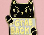 Grab Back Cat Pin